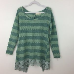 A'reve Small Anthropologie Tunic Sweater Crochet S